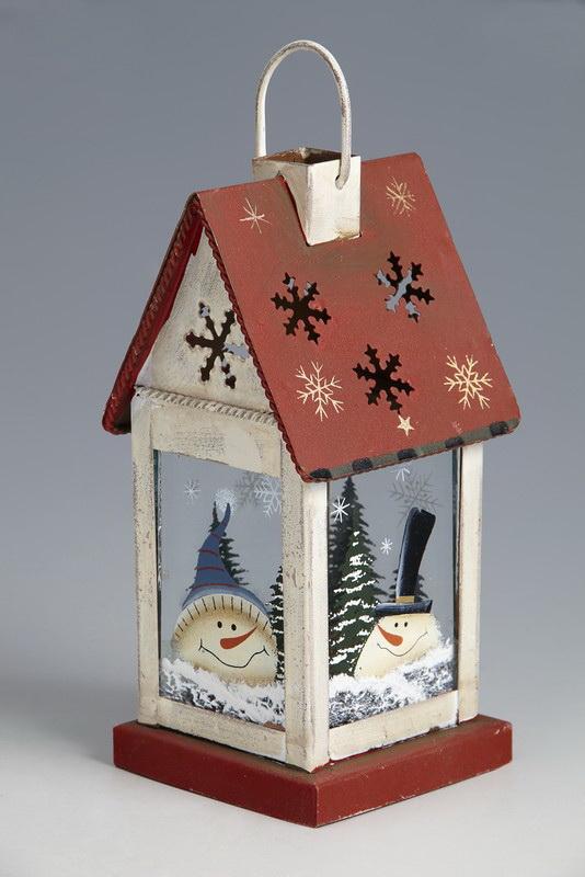 Подарок - Фонарик-домик, средний, 8х8х17 см - купить подарки в интернет-магазине Москва