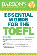 Barron's Essential Words For theToefl. 7th Edition обложка-превью